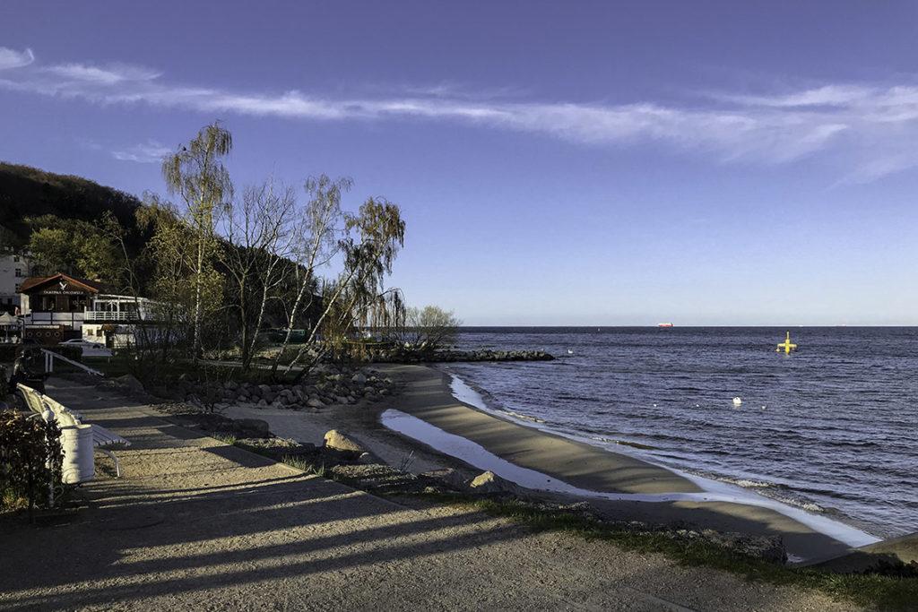 Gdynia - opustoszałe Orłowo, 18 kwietnia 2020