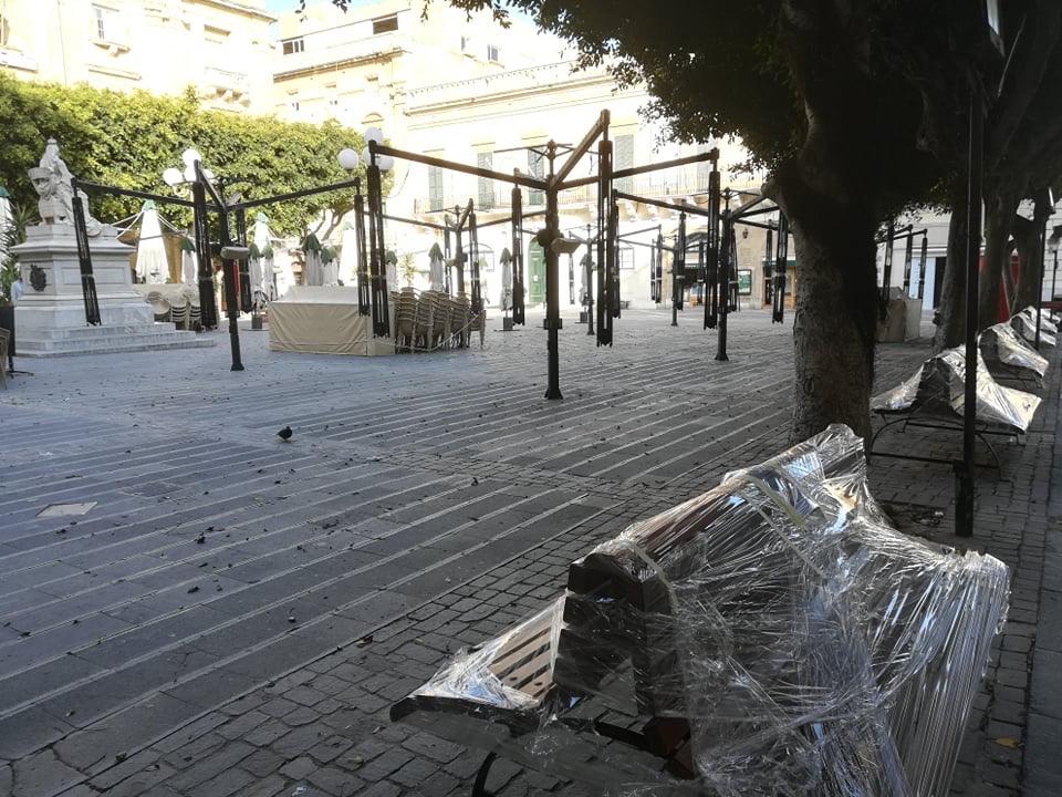 Valletta - Republic Square, 17 kwietnia 2020. Fot. Adrienn Molnár