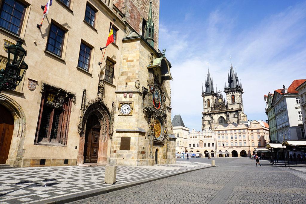 Praga - Rynek Staromiejski, 18 kwietnia 2020. Fot. Praski Łącznik