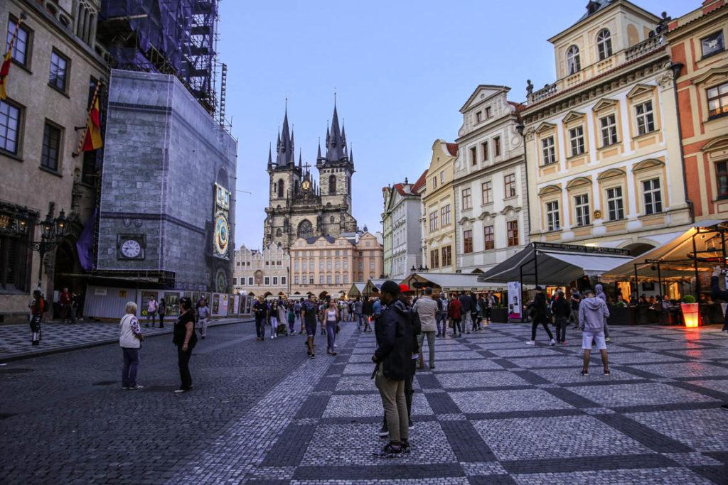 Praga - wieczór na Rynku Staromiejskim, 2 maja 2018