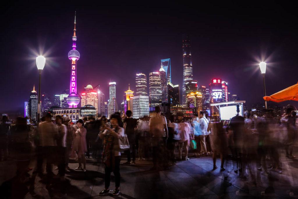 Szanghaj - Bund nocą, 4 maja 2016