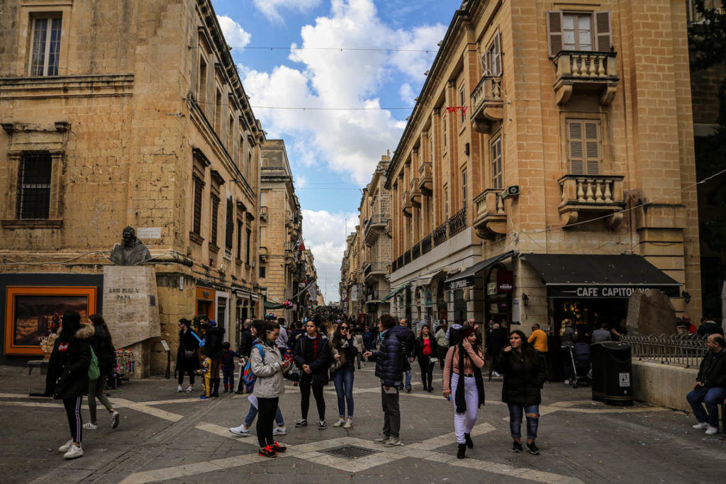 Valletta - Republic Street, 3 marca 2019