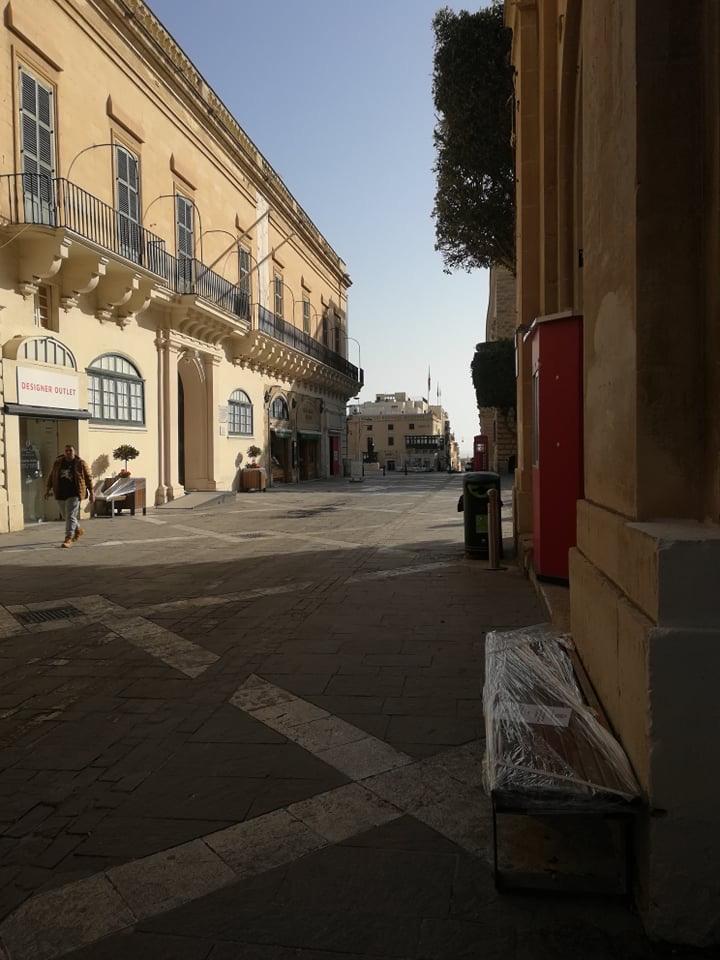 Valletta - Republic Street, 17 kwietnia 2020. Fot. Adrienn Molnár