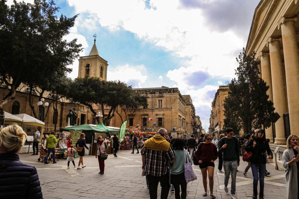 Valletta - Republic Street i Budynek Sądów, 1 marca 2019