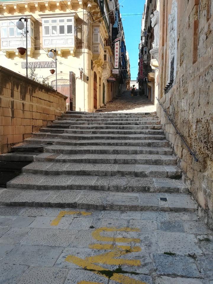 Valletta - St. Ursula Street, 17 kwietnia 2020. Fot. Adrienn Molnár