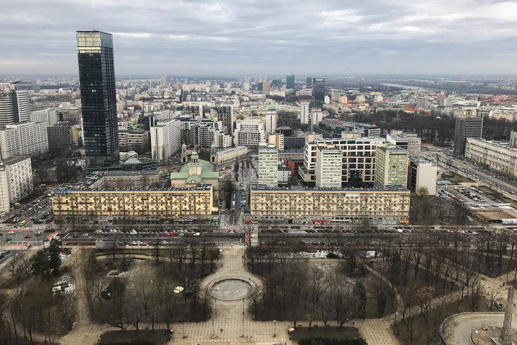 Warszawa, widok z Pałacu Kultury i Nauki