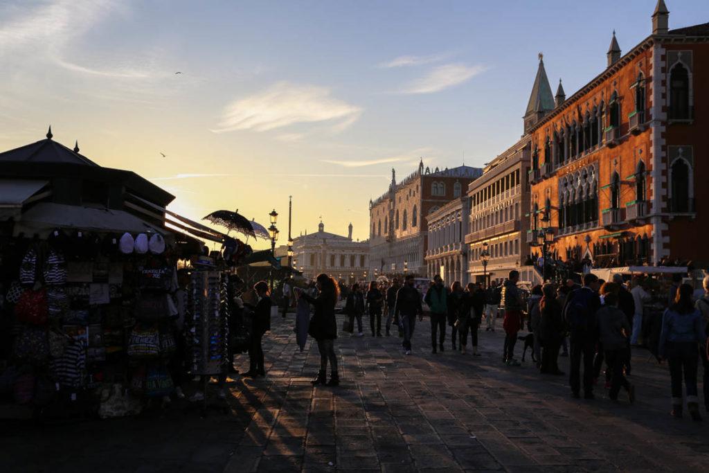 Wenecja - Riva degli Schiavoni o zachodzie słońca, 1 listopada 2014