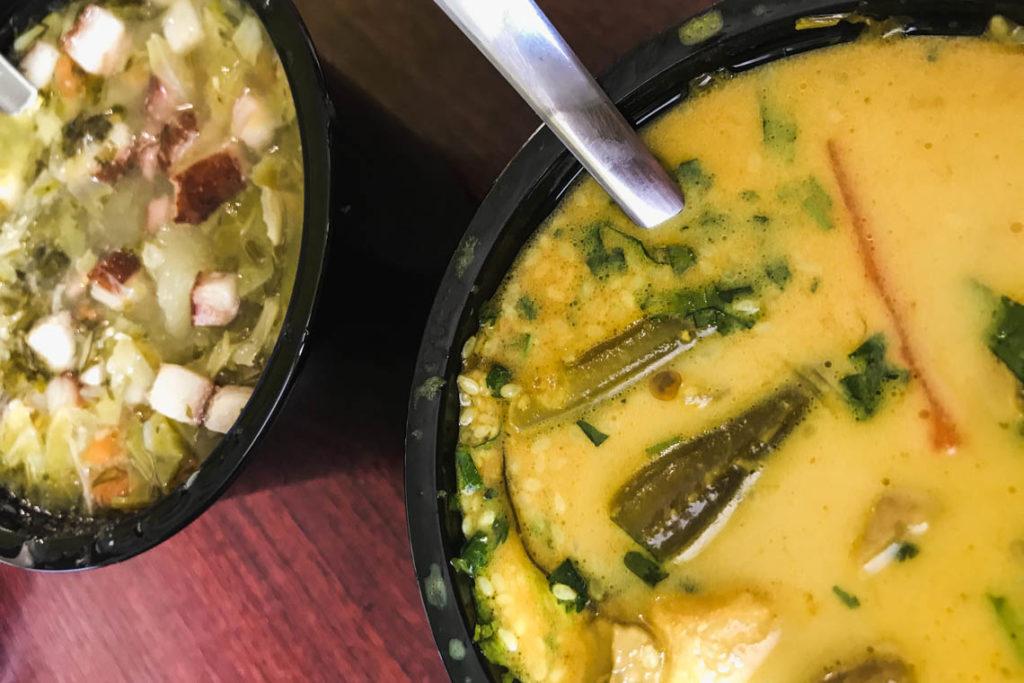 Gary na ogniu - kapuśniak i zupa tajska