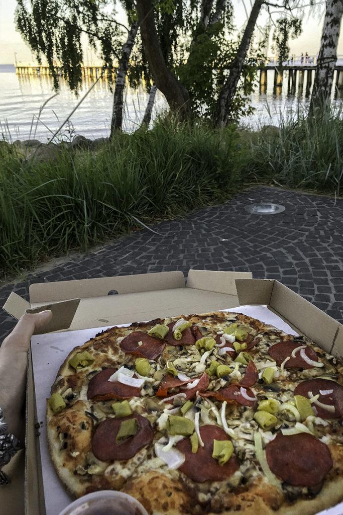 Pizza Orłowska z widokiem na molo :)