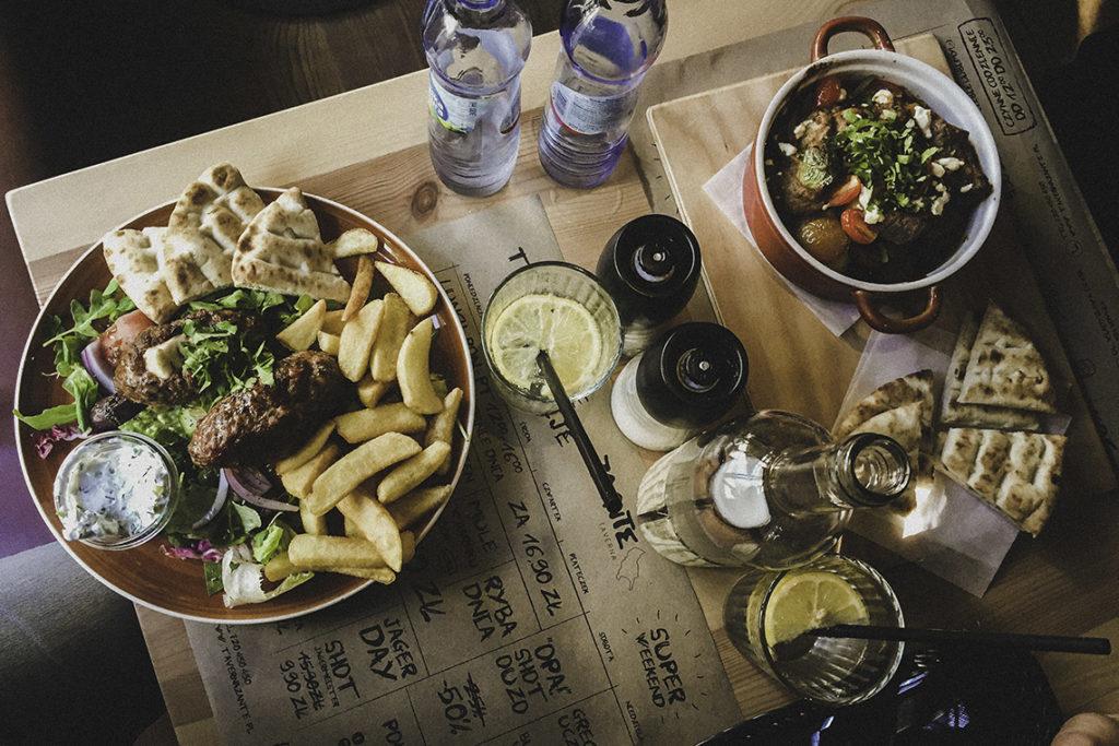 Taverna Zante Gdynia - bifteki i kleftiko