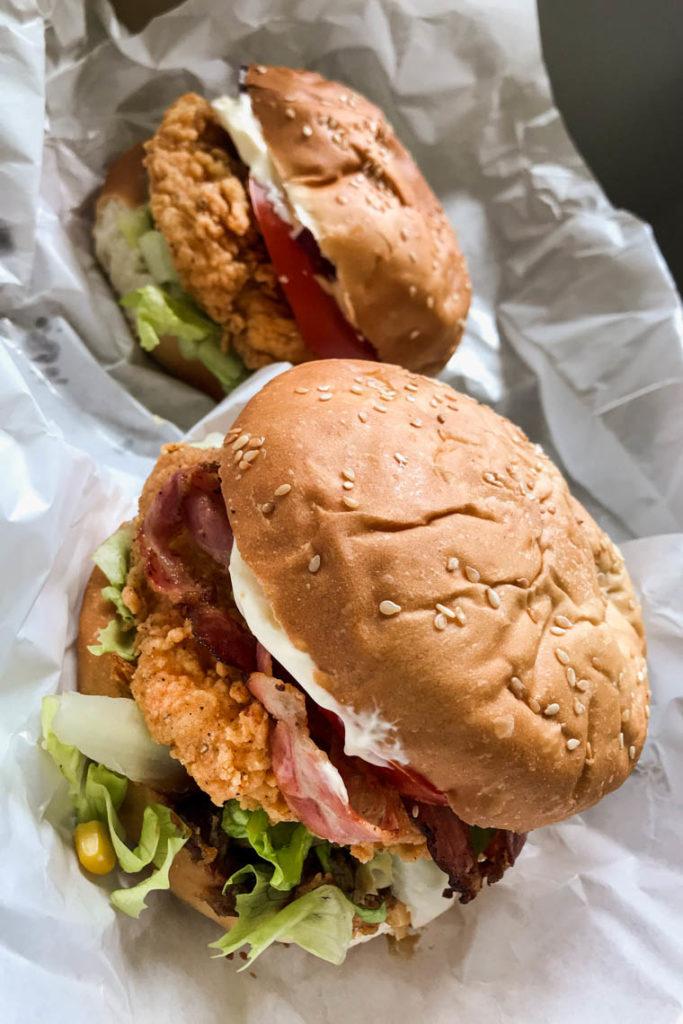 Kurczakowe burgery z Texas Chicken Gdynia