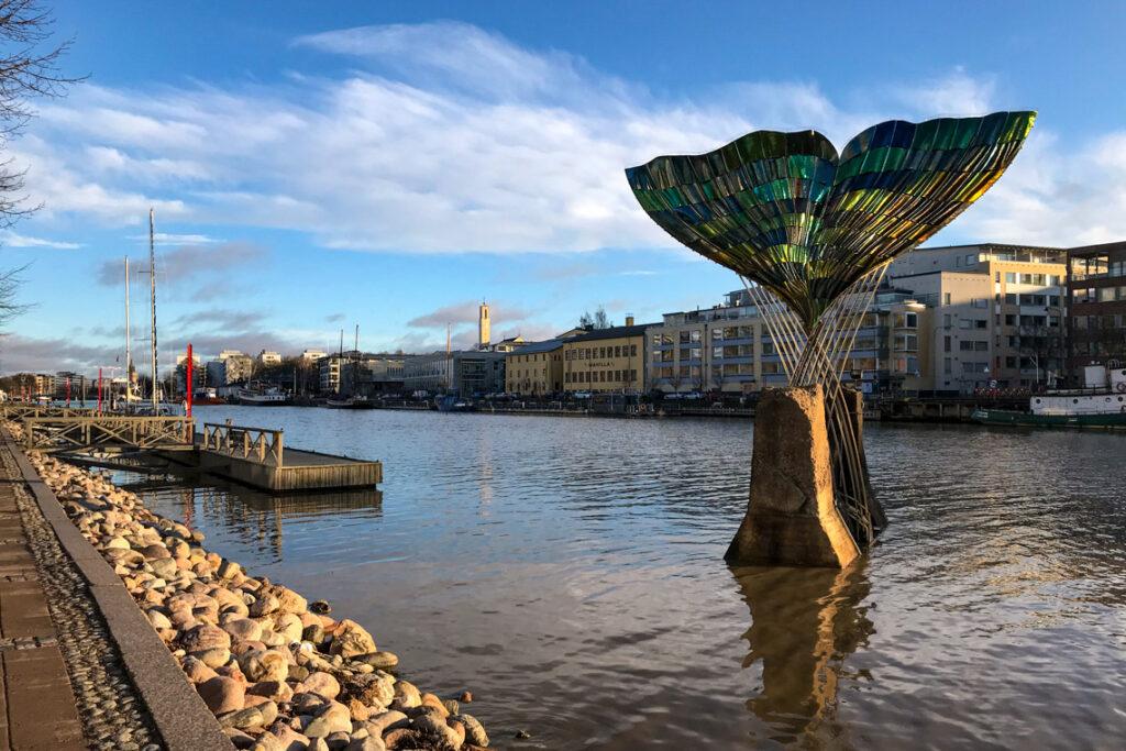Turku, Finlandia. 19 stycznia 2020