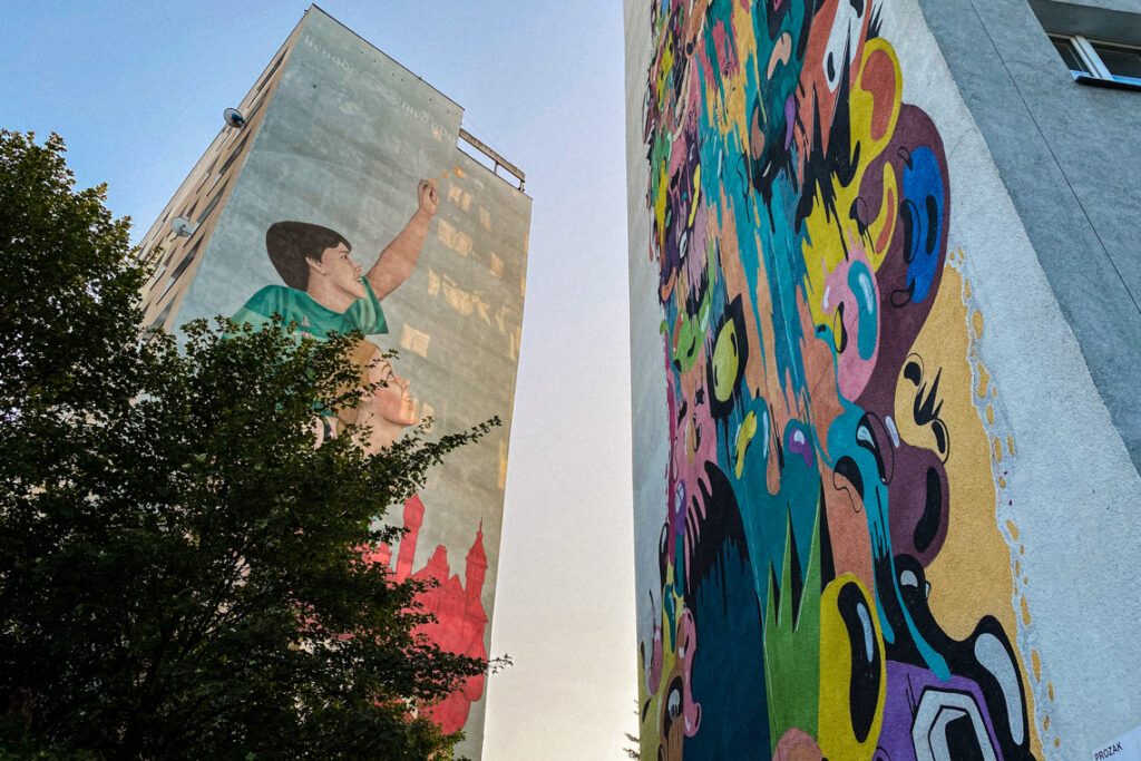 Kolorowe murale na gdańskiej Zaspie, wrzesień 2020