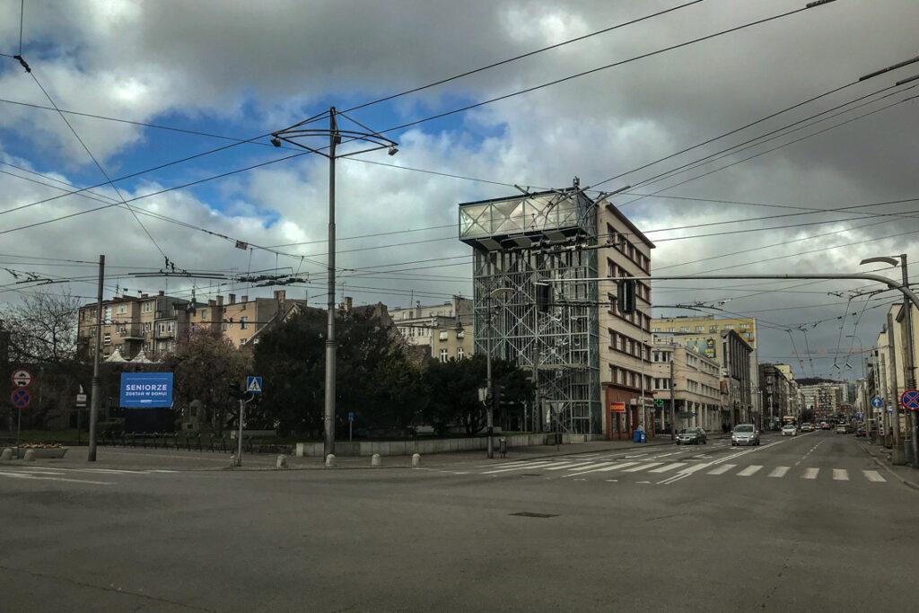 Opustoszałe gdyńskie ulice, 3 kwietnia 2020