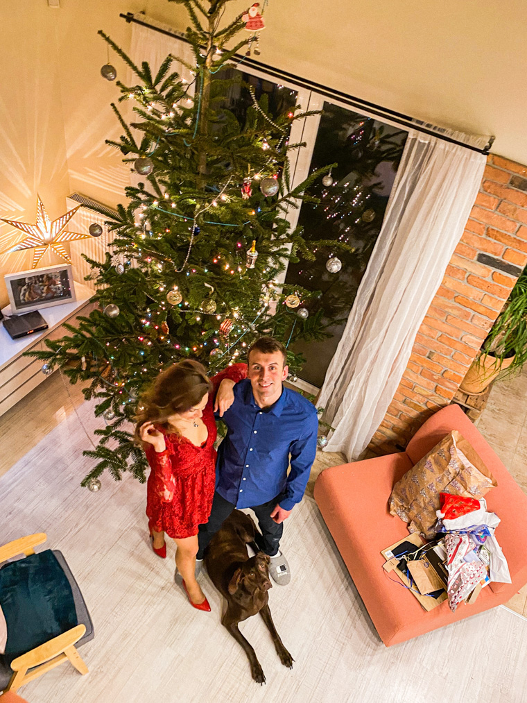 Tomek, ja i Tuseł :) Wigilia Bożego Narodzenia 2020