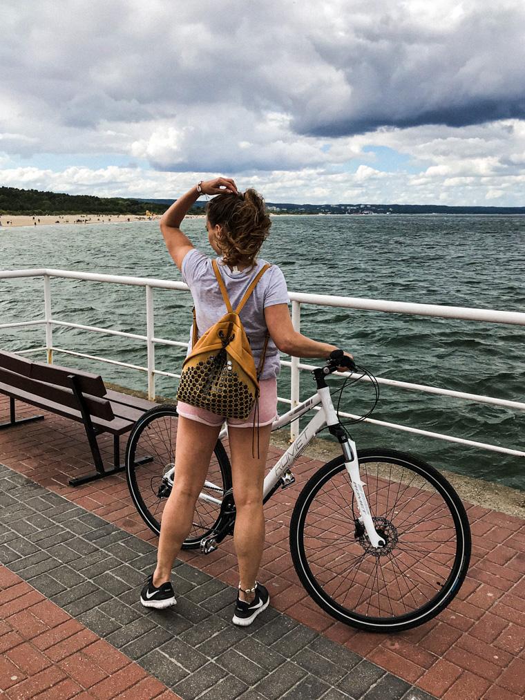 Przystanek na molo w Brzeźnie podczas naszej rowerowej wycieczki