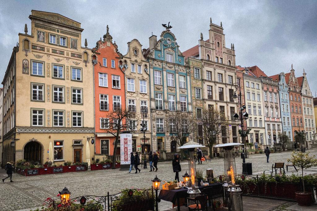 Długi Targ, Gdańsk, listopad 2020