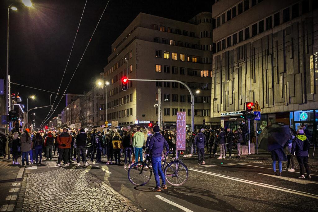 Protest w ramach Strajku Kobiet w Gdyni, 25 października 2020