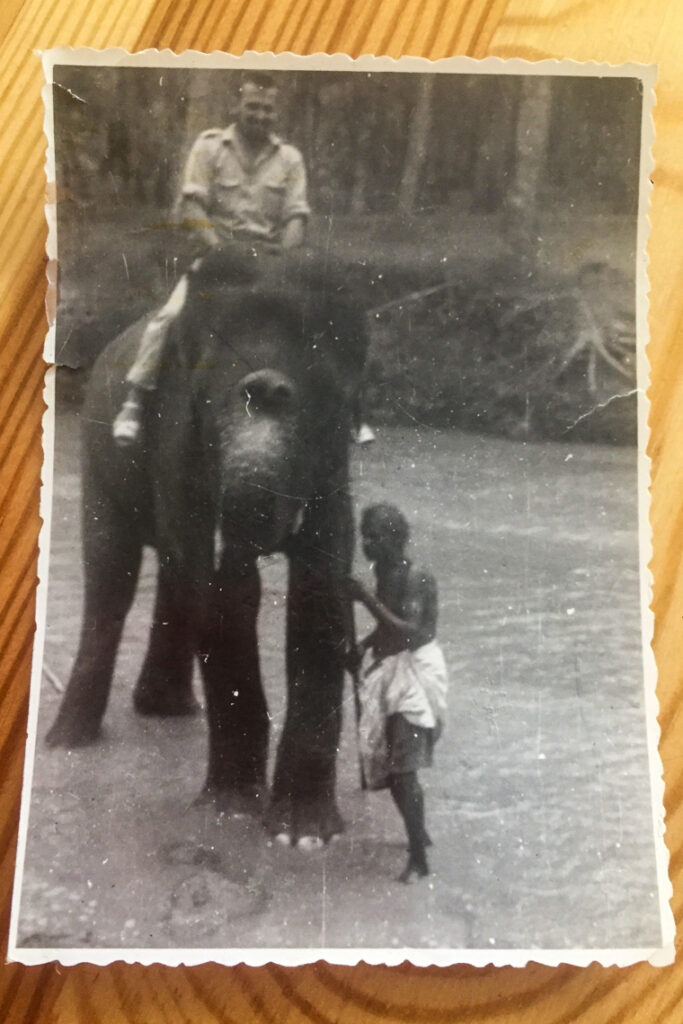 Marynarskie wspomnienia na lądzie - przejażdżka na słoniu