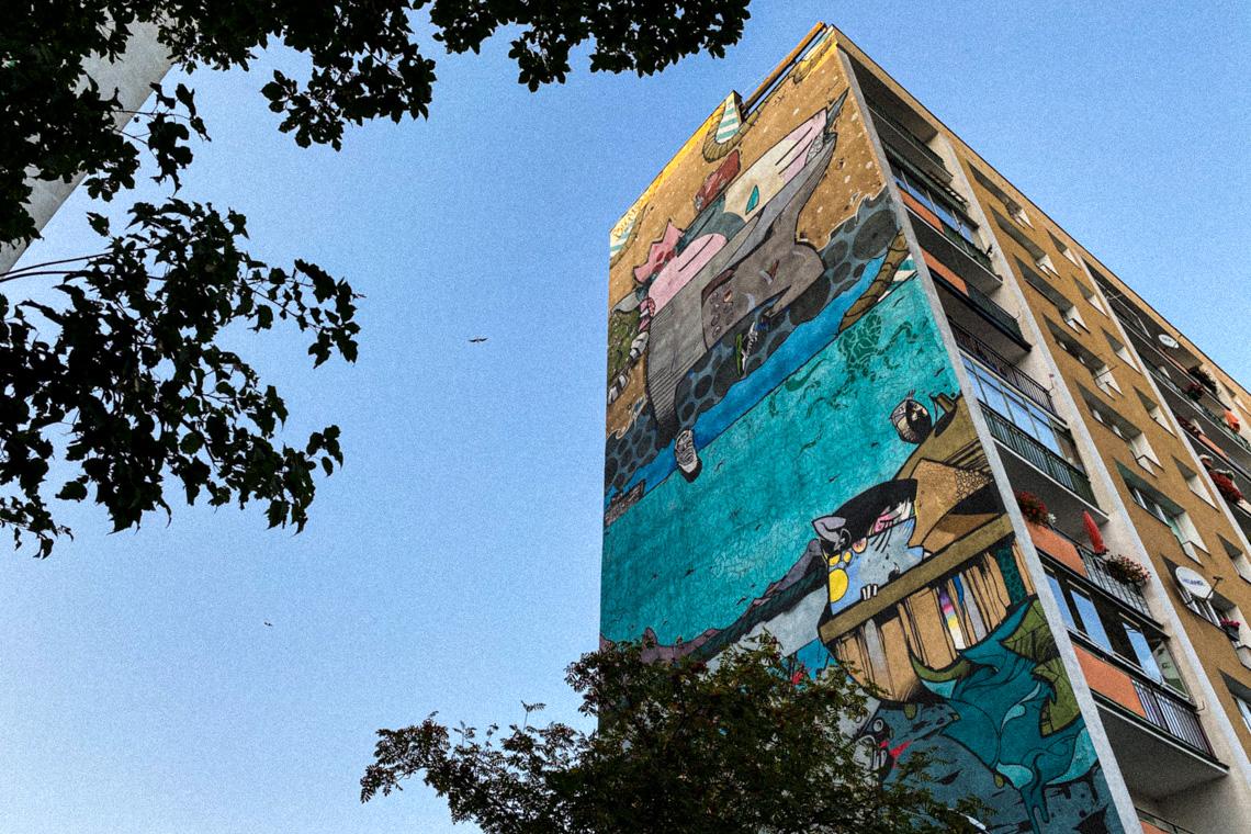 Murale na Zaspie - galeria sztuki na świeżym powietrzu