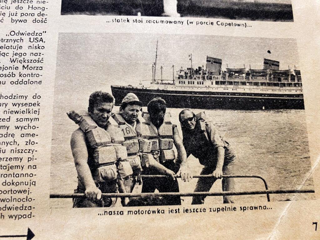 Załoga statku MS Batory podczas ostatniego rejsu. Drugi od lewej to mój Dziadek!