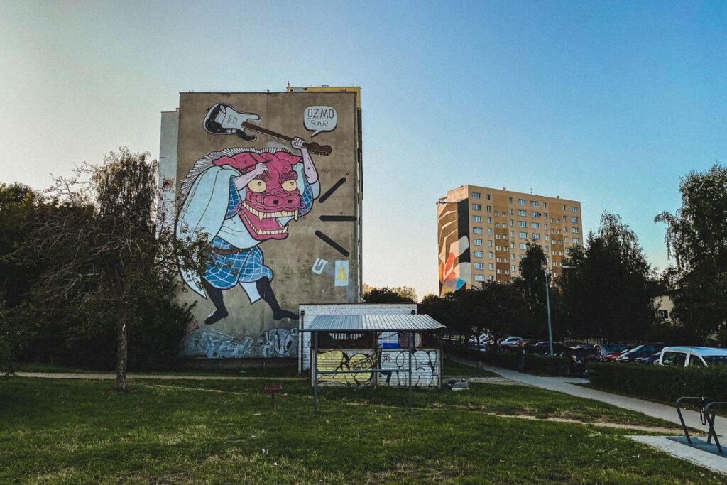 Murale na Zaspie tworzą wyjątkowy klimat tego miejsca