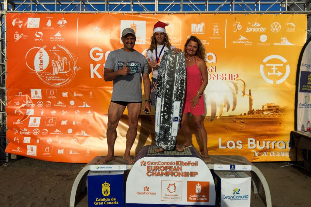 Mój brat Piotr Szymiec Wicemistrzem Europy w formule KiteFoil Open w kategorii do lat 15! Playa de las Burras, Gran Canaria 2020