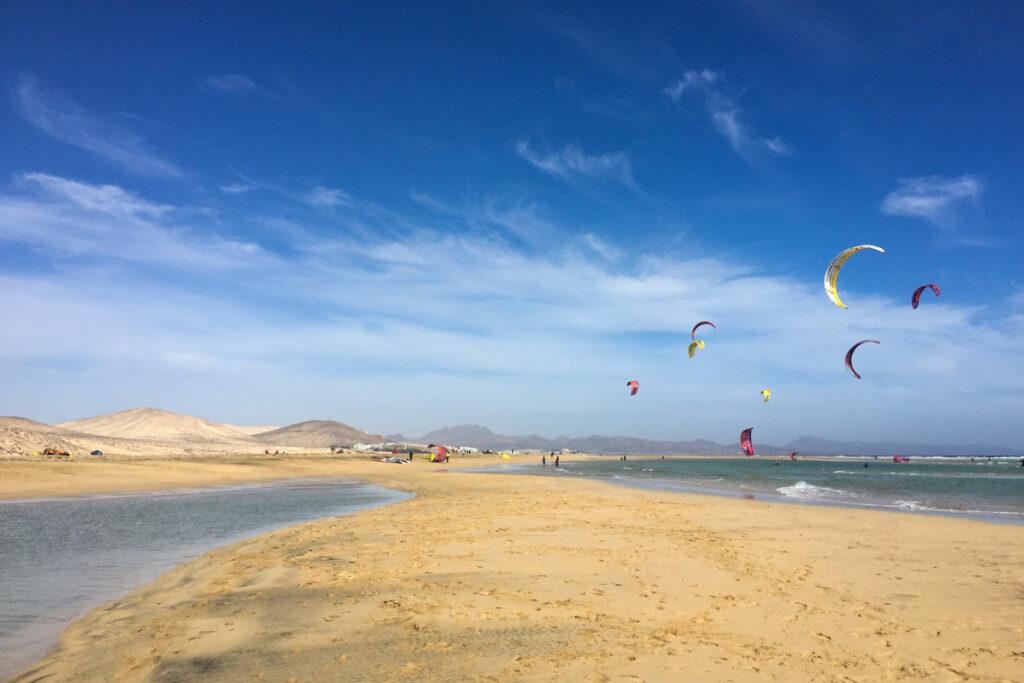 Fotka od mamy. Playa de Sotavento, Fuerteventura, 2 stycznia 2020