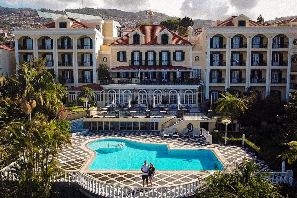 Pierwsze kroki z dronem w hotelu Quinta Bela Sao Tiago
